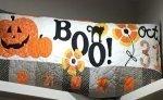 Halloween Boo Bench Pillow 16x38