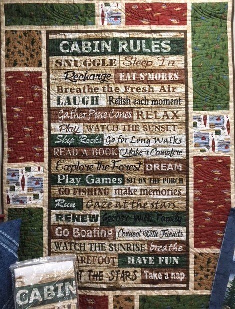 Cabin Rules - Message Board 39x53