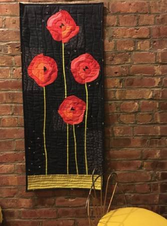 Poppies! Wall  Hanging 18 1/2 x 41