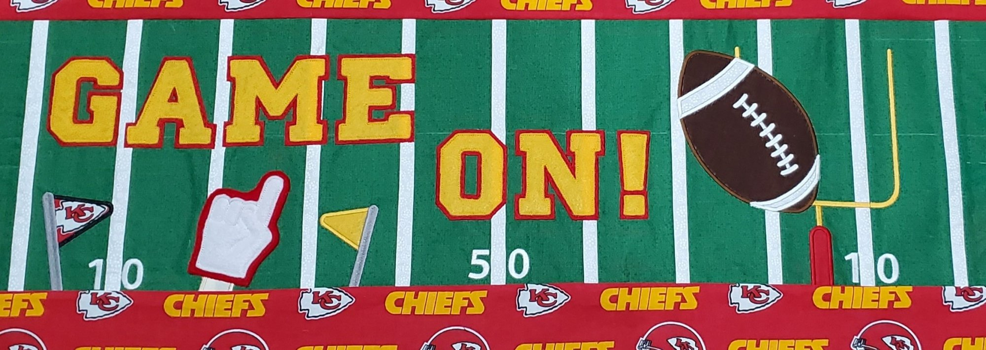Game On! Football Bench Pillow Fabric Kit - Chiefs