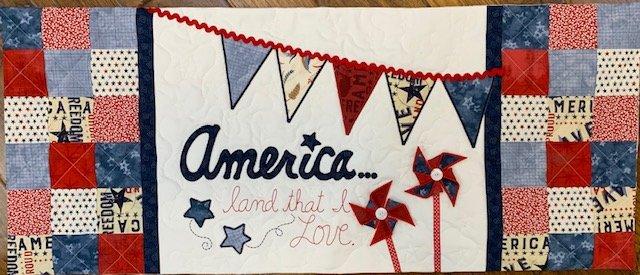 America Land That I Love Bench Pillow Fabric  Kit