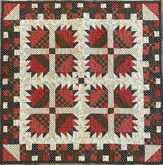 Raspberry Cocoa Table Mat/Wall Hanging 26x27 - Sold