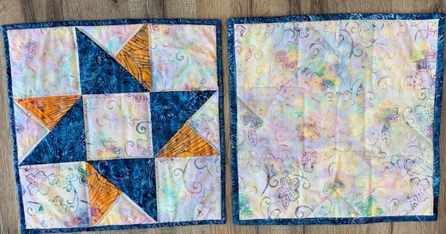 Star Table Mat 12 sq - Set of two