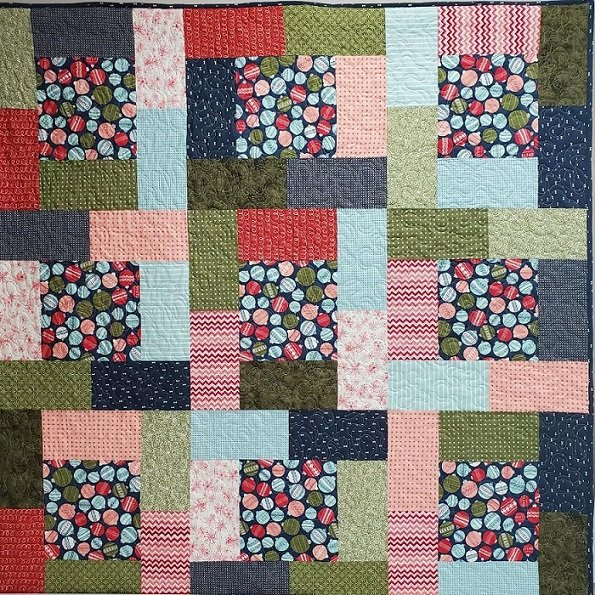 Intrigue Ornaments Quilt  Kit 56 x 72