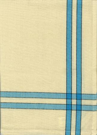Tea Towel Turq/Cream