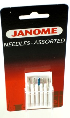 Janome Assorted Needle Set, 5 needles per package