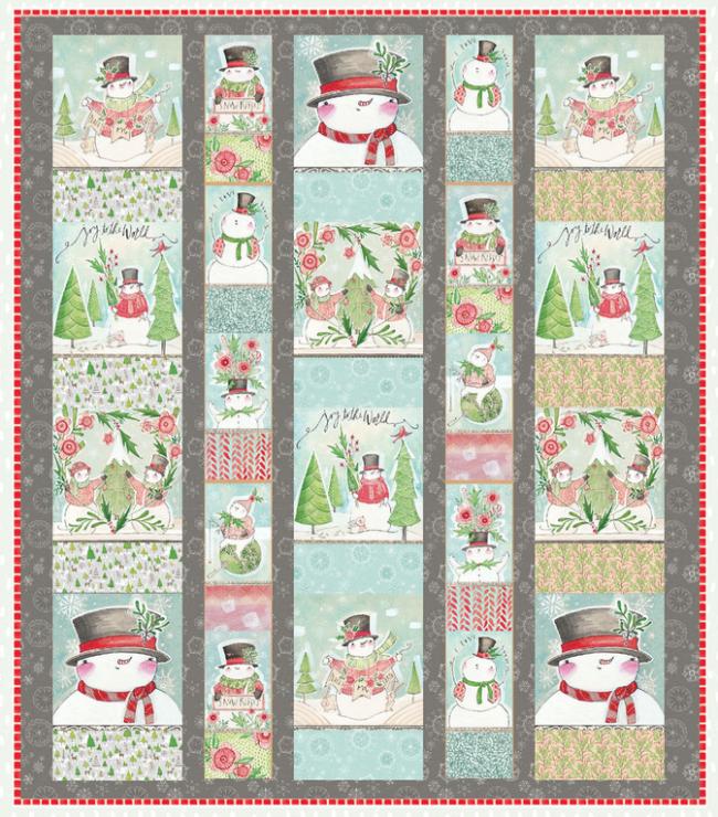Snow Fun Quilt Kit 56 X64