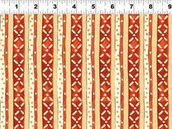 Tangier by Sue Lipkin - Brick/Yellow Stripe
