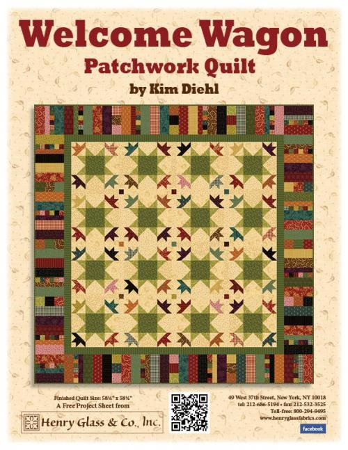 Welcome Wagon Patchwork Quilt Kit