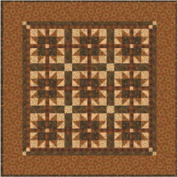 Woven Stars :23x23 SWN7