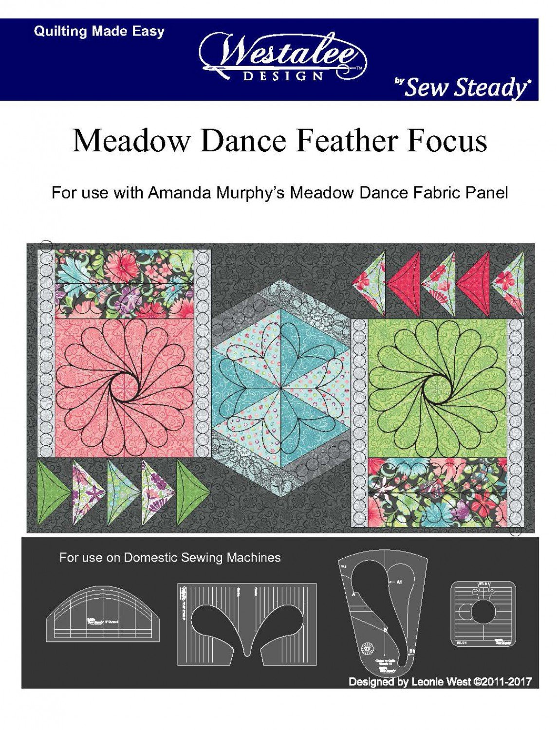 Feather Focus by Westalee Designs - Template Set-LS