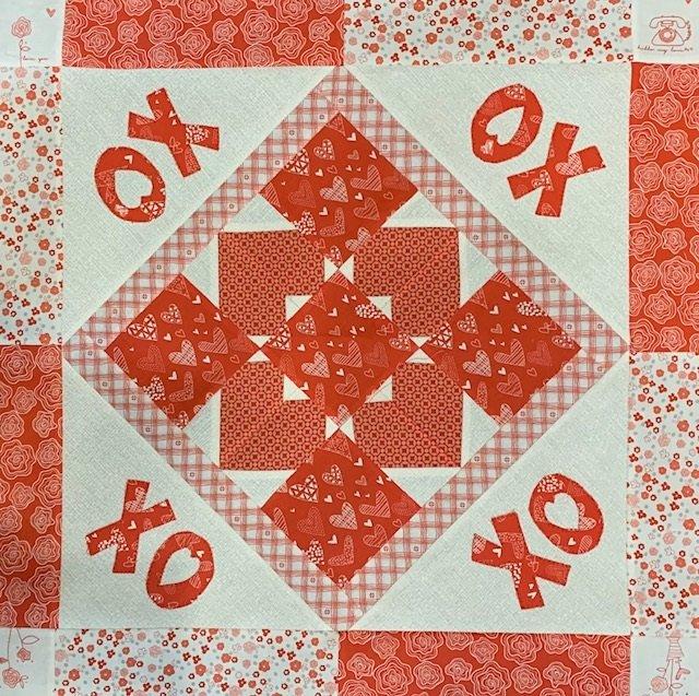 Hugs & Kisses Table Topper - Feb Fabric Kit