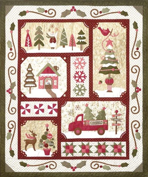 Sew Merry Kit - Burgandy 71x60