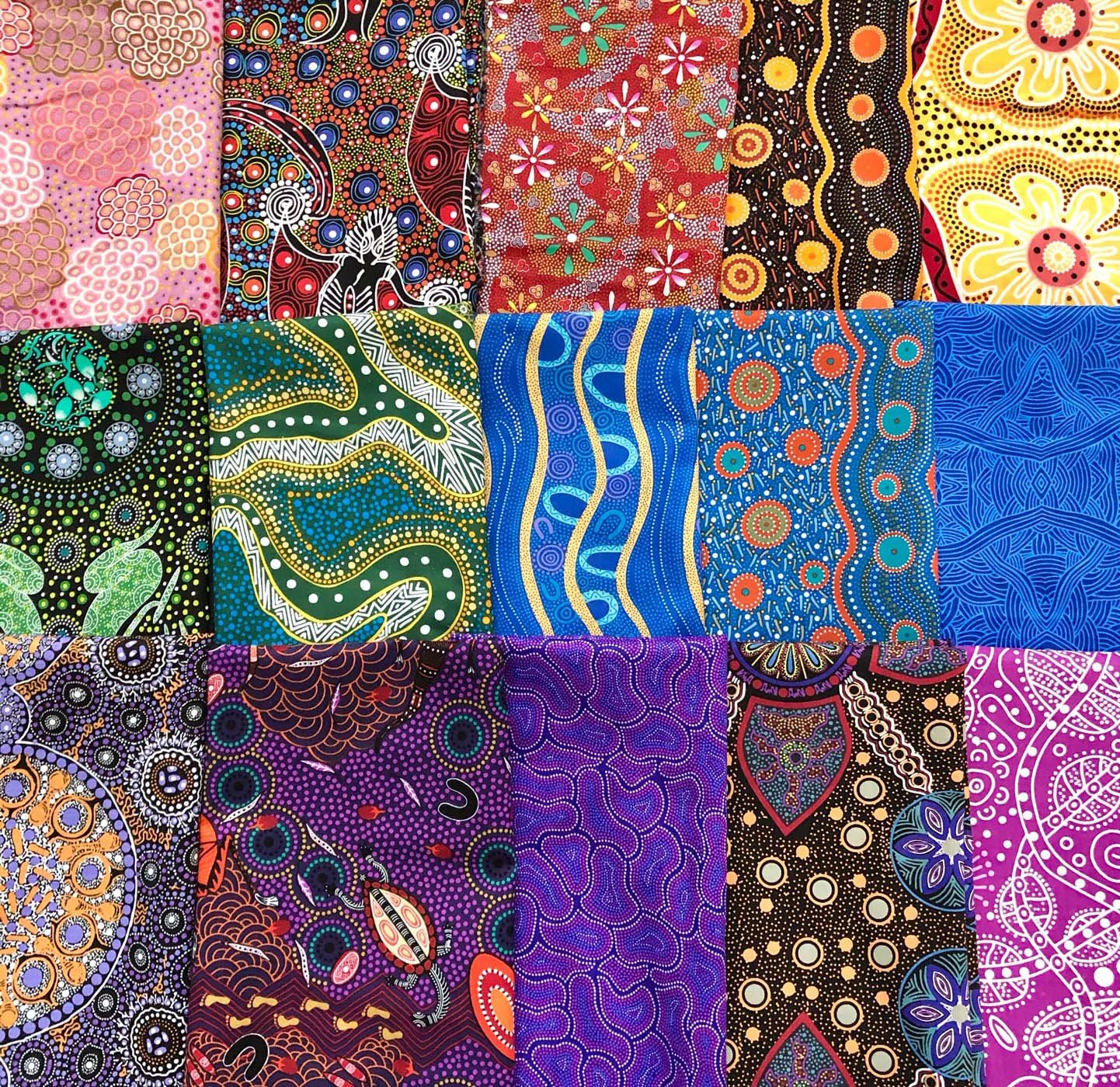Australian Fabric Bundle of 15 Fabrics, half yards