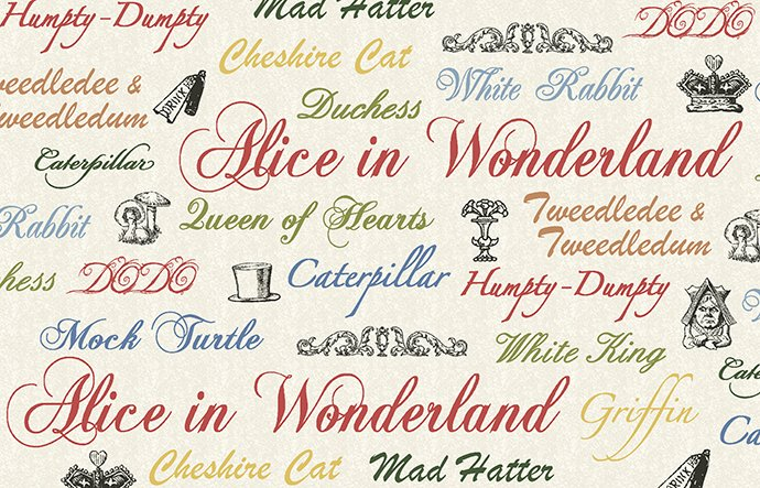 Adventures in Wonderland - Words - Red