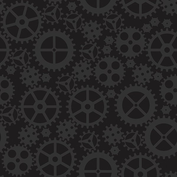 Matthew's Mini Monsters - Tonal Gears - Black