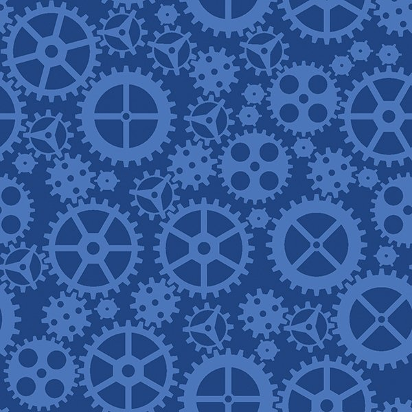 Matthew's Mini Monsters - Tonal Gears - Blue