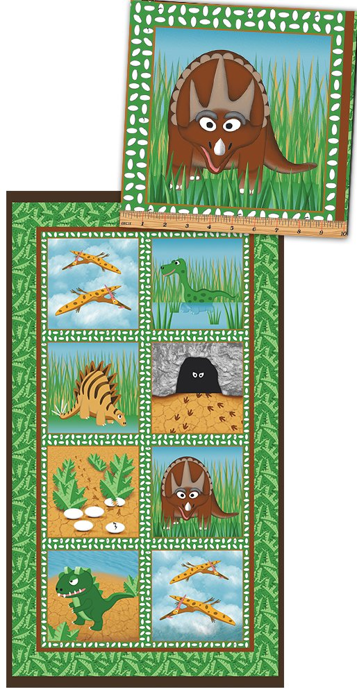Dino Age - Blocks Panel Green