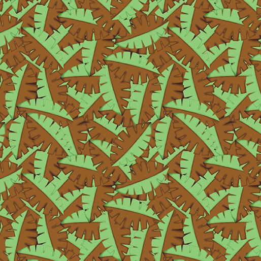 Dino Age - Tossed Leaves Brown/Green