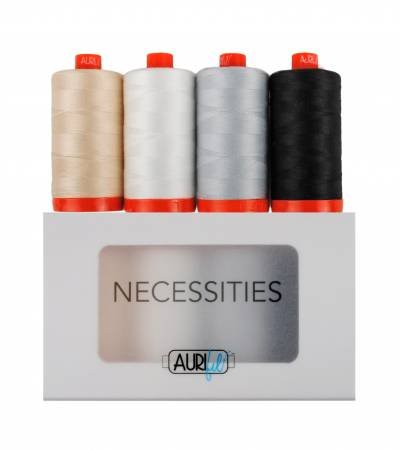Aurifil Necessities Thread Collection 50wt (4 large spools)