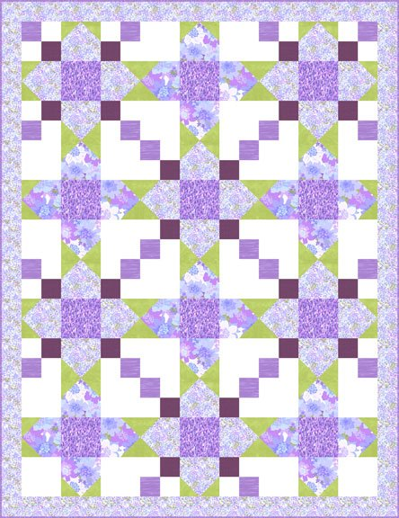 Blooming Violets - Pattern