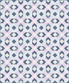 Blue Lattice - Pattern