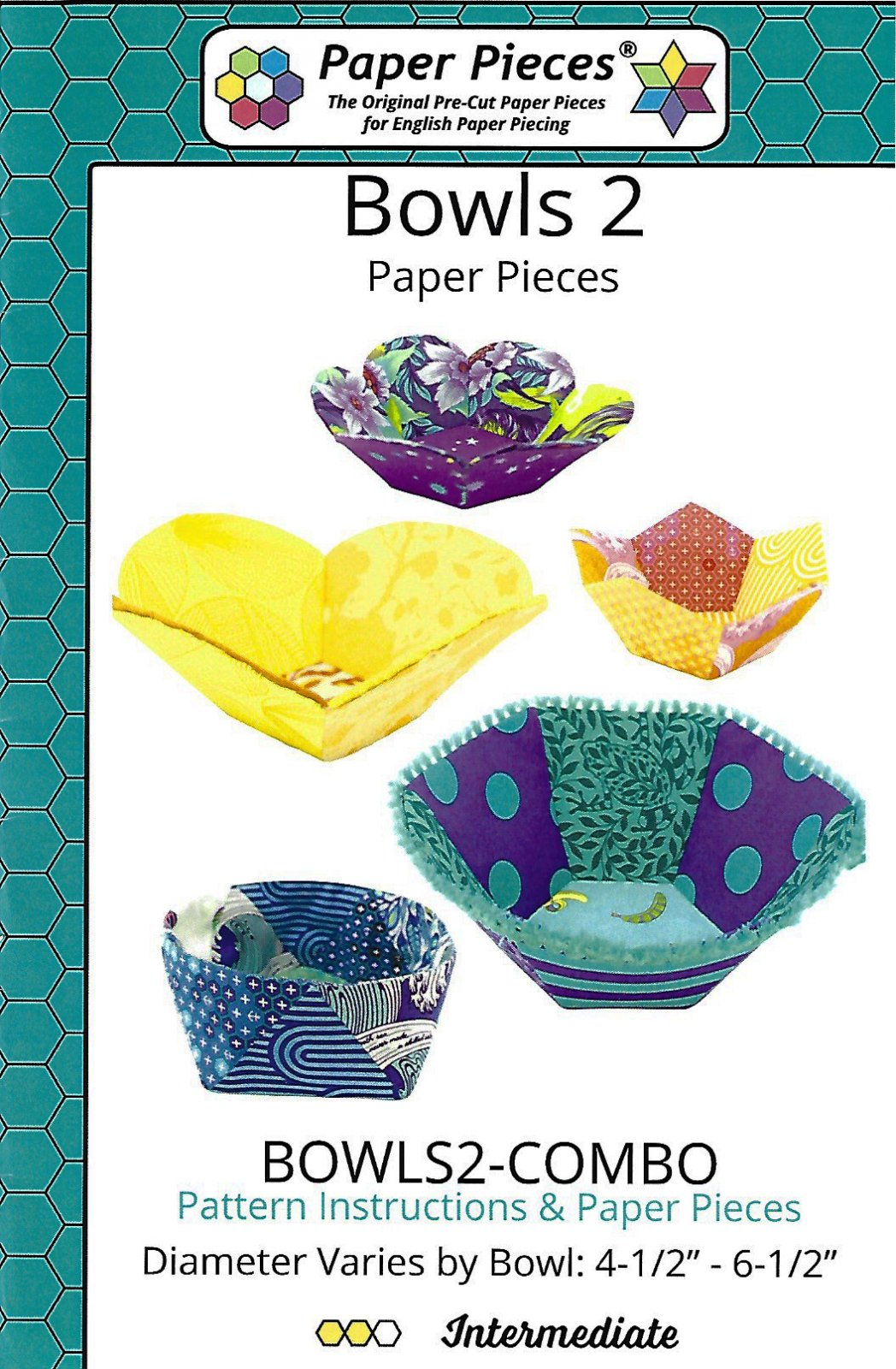 Bowls 2 Pattern with English Paper Piecing Papers