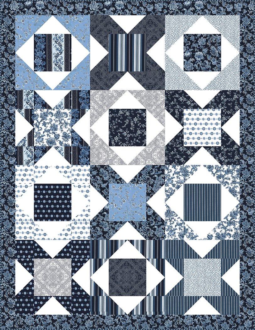 Crossroads - Fabric Kit (Indigo)