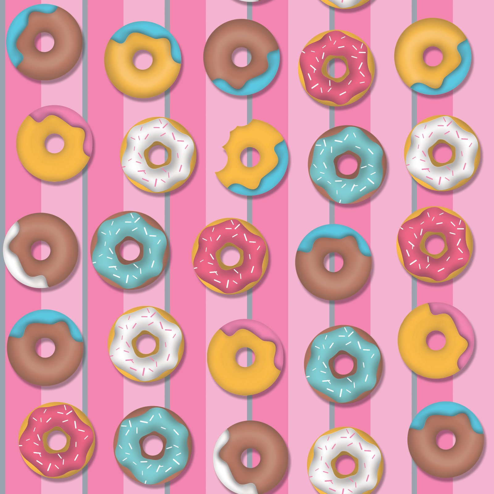 Donut Stripe - Fabric