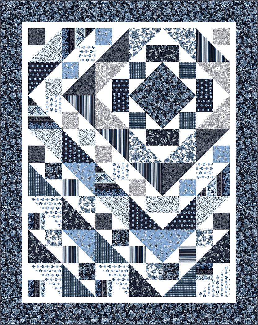 Down the Rabbit Hole - Fabric Kit (Indigo)