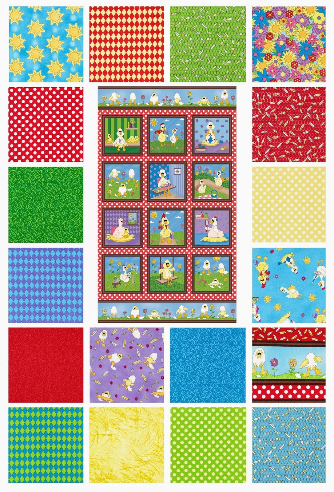Eggcellent Adventures - Fat Quarter Bundle