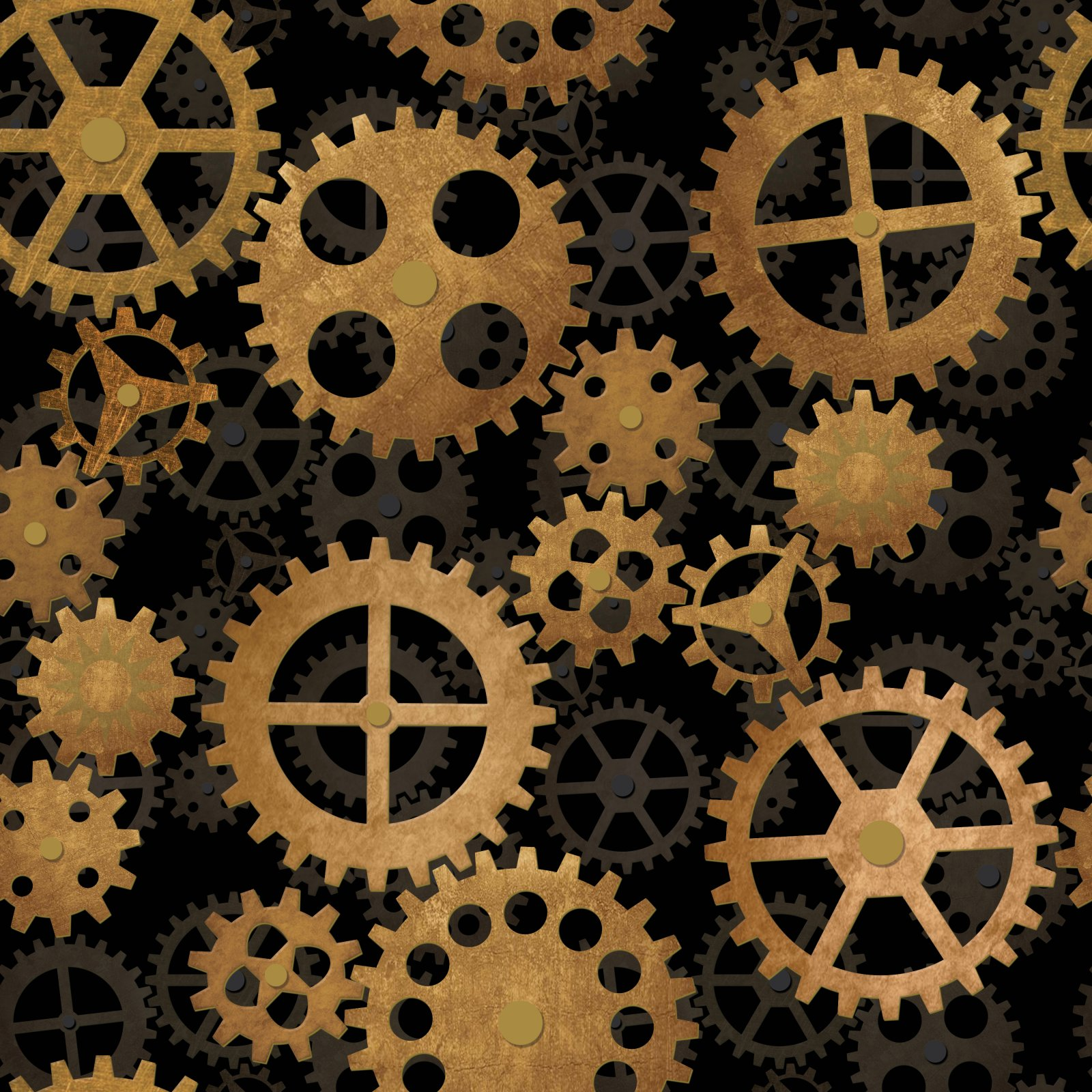 Steampunk Gears - Fabric