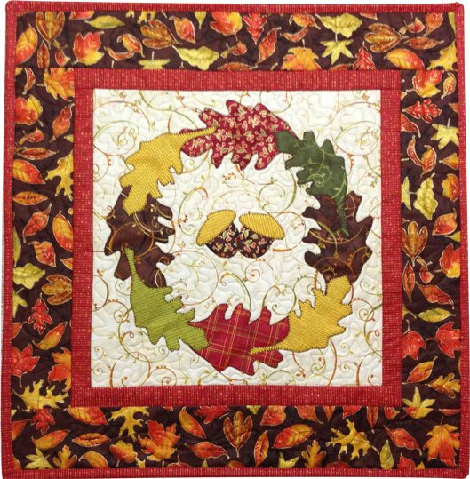 Harvest Leaves Wreath - Pattern