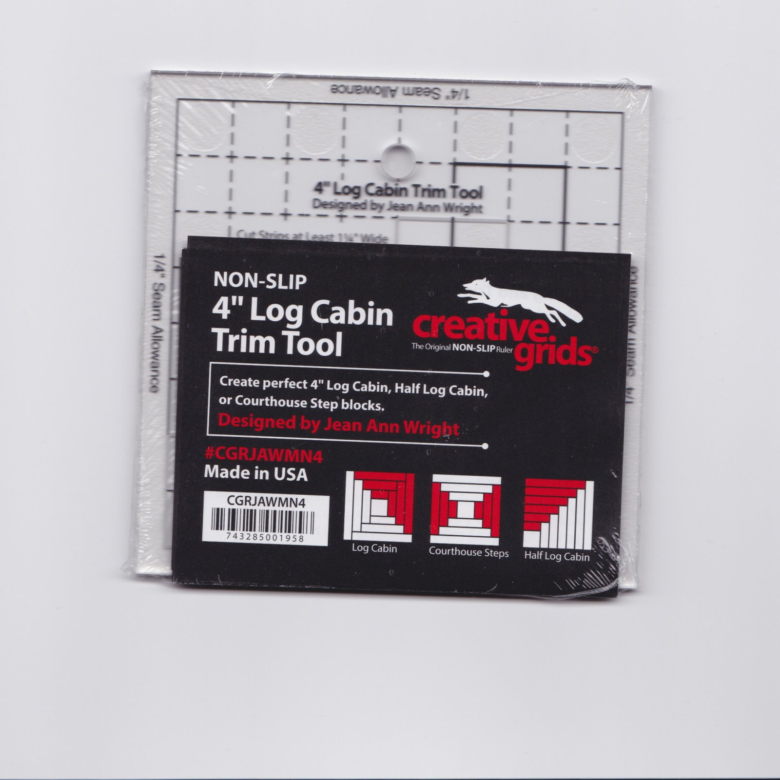 Creative Grids Mini (4) Log Cabin Trim Ruler