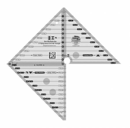 Creative Grids 6 Flying Geese & 45/90 Triangle Ruler