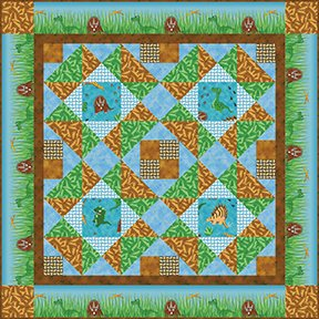 Prehistoric Patchwork - Fabric Kit