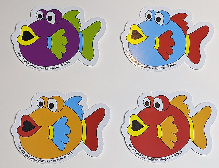 Under the Sea Fishy Stickers - Set of 4