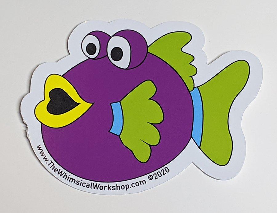 Under the Sea Fishy Sticker - Purple