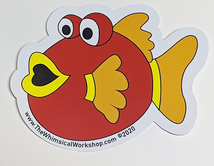Under the Sea Fishy Sticker - Red