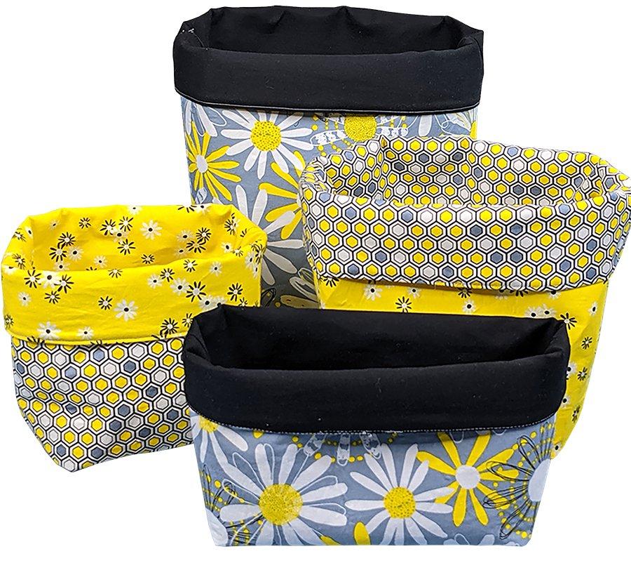 Stacking Fabric Baskets - Digital Download Pattern