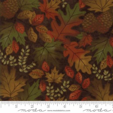 Fall Impressions Flannel - Nutmeg Leaves