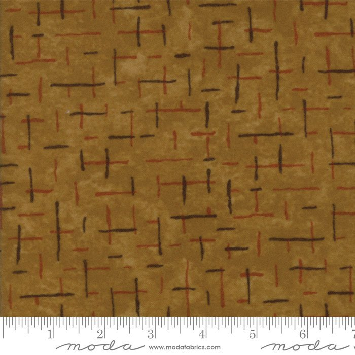 Fall Impressions Flannel - Mustard Lines