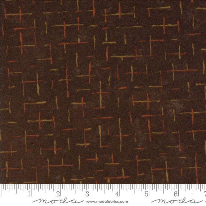 Fall Impressions Flannel - Nutmeg Lines