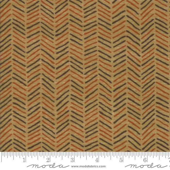 Fall Impressions Flannel - Mustard Houndstooth