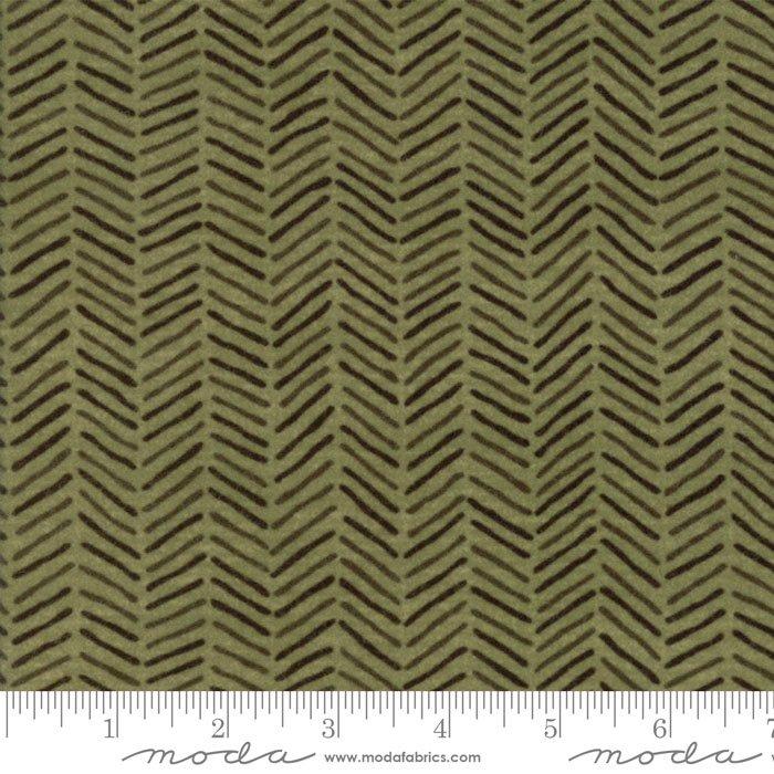 Fall Impressions Flannel - Juniper herringbone