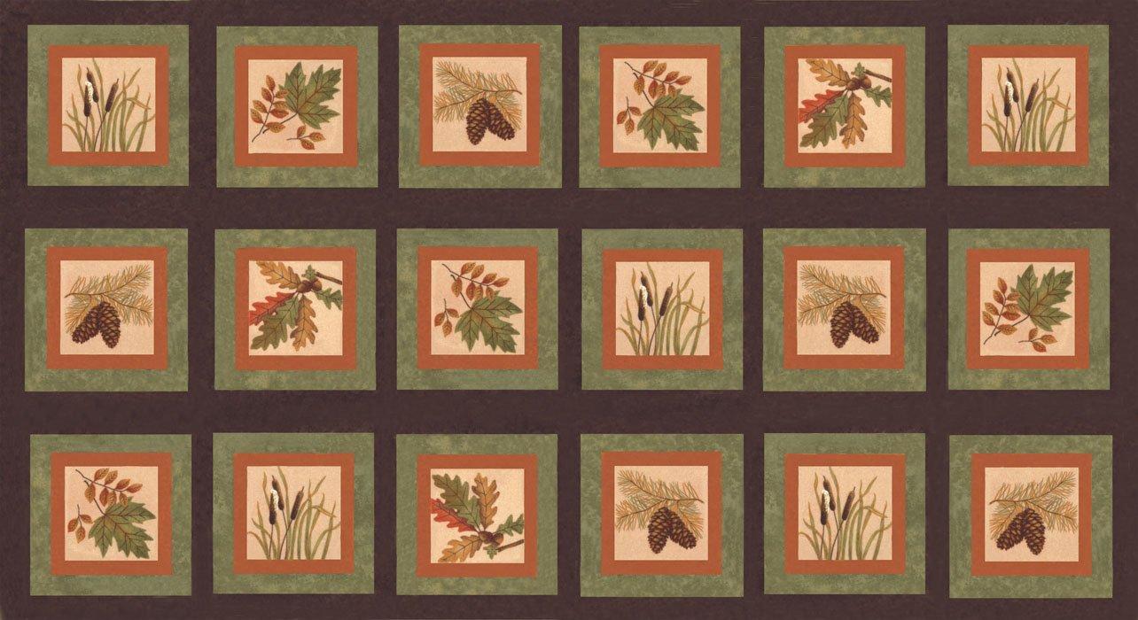 Fall Impressions Flannel Panel - Nutmeg