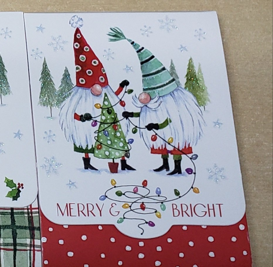 Gnome Notepad  Merry and Bright