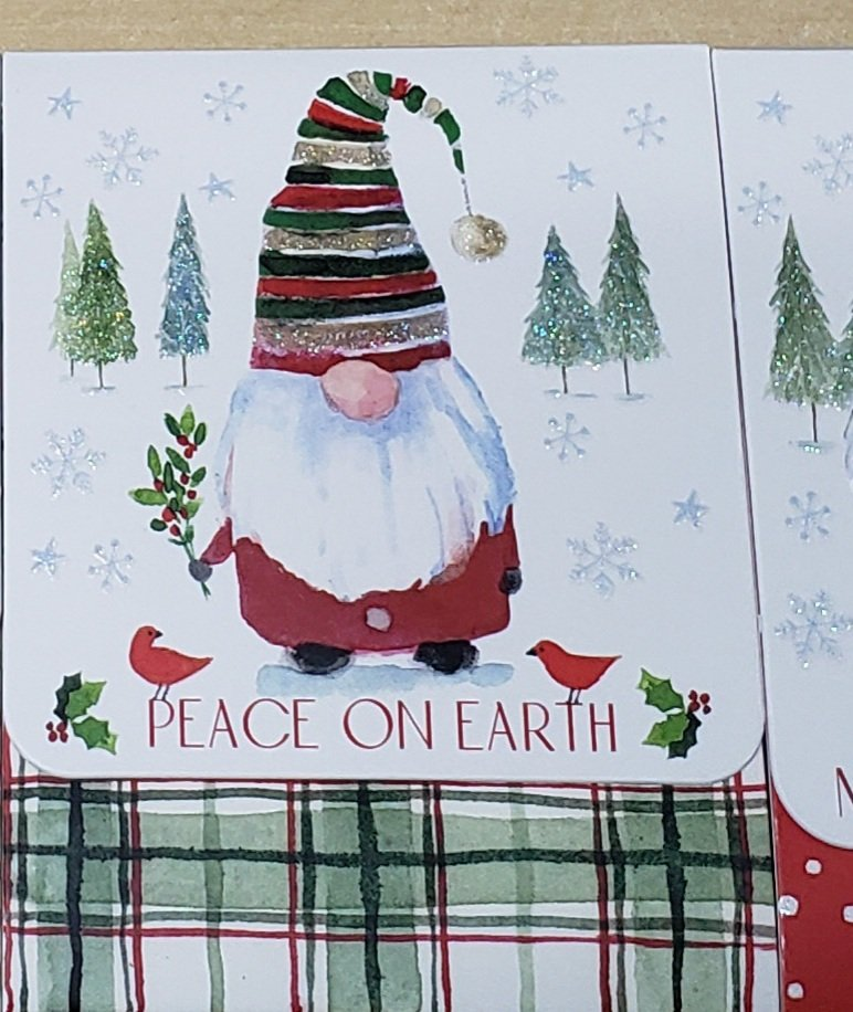 Gnome Notepad Peace on Earth