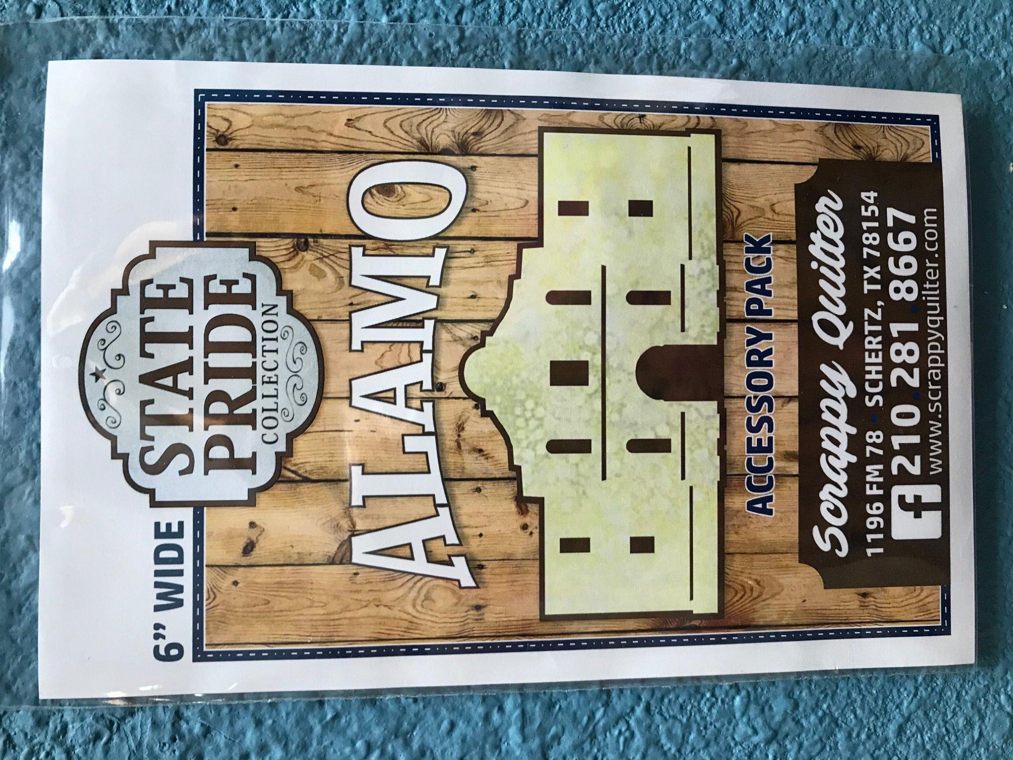 Alamo State Pride 6 laser cut pre-fused applique
