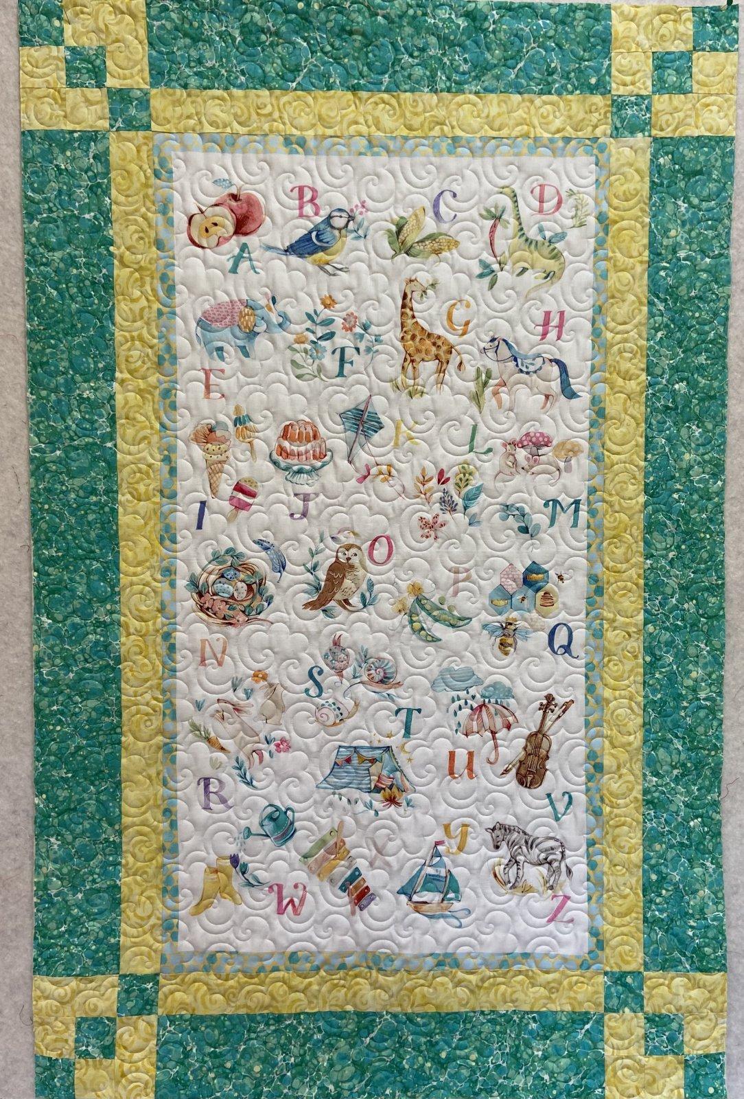 Alphabet Panel Magic Quilt KIT 34 1/2x 54